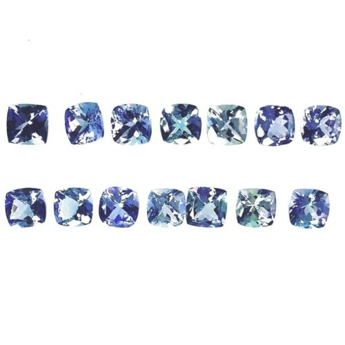 Wholesale Lot 4mm to 5mm Cushion Cut Natural Tanzanite Loose Calibrated Gemstone
