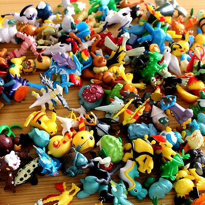 NEW Random Lot Of 2 PCS Pokemon Pikachu Action Mini Monster Figures Cartoon Toy