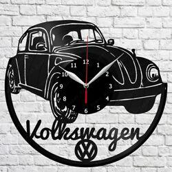 Volkswagen Retro Car Vinyl Record Wall Clock Home Fan Art Decor 12'' 30 cm 6845