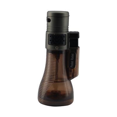 Pocket Rocket Triple Jet Flame Butane Cigarette Cigar Torch Lighter – Brown