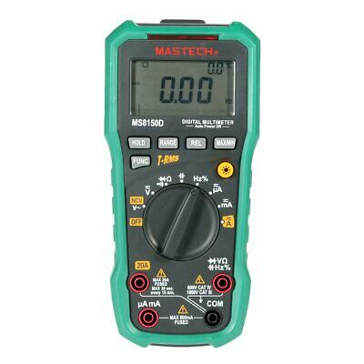 Mastech Ms8150d True Rms Digital Multimeter Dmm Ncv Frequency Capacitance Tester