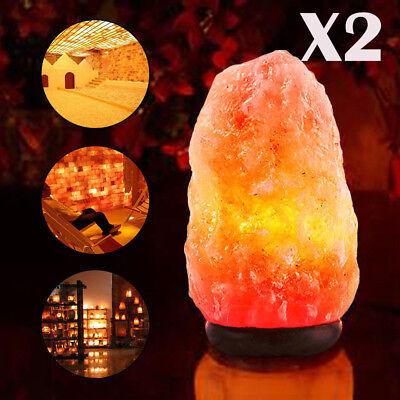 2 Pack Himalayan Natural Air Purifier Salt Lamp Rock Tower  7 5 8 5Inch 4 6Lbs