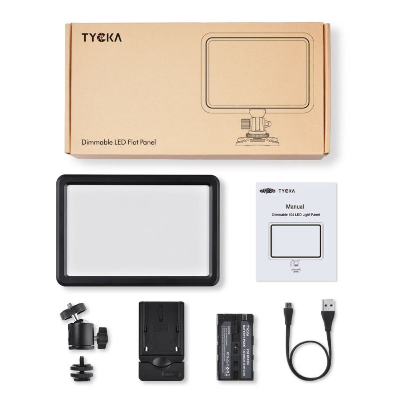 LED Video Light Panel LCD Lamp 3000K-6000K + 2200mAh Battery for Camera TK202