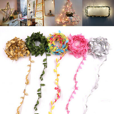 2-10m Leaves Ivy Leaf Garland 50LED Fairy String Lights Home Wedding Party Decor