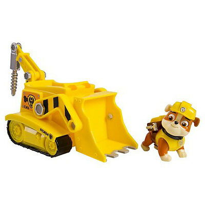 Paw Patrol Rubbles Diggn Bulldozer Vehicle W Pup Case And Figure Toy Gift Set