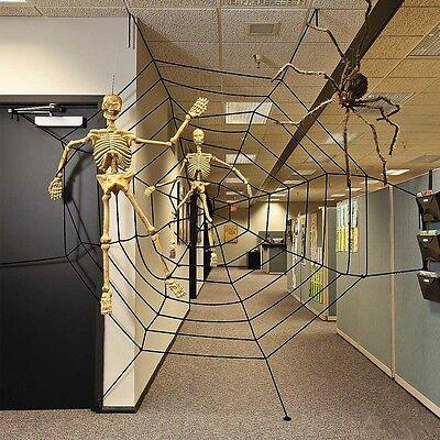 obweb Halloween Decor Spukhaus Party Dekoration (Halloween Riesen-spinnennetz Dekoration)