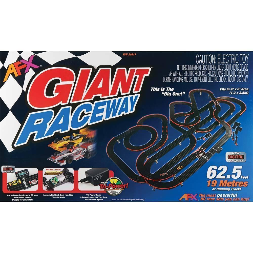 Afx Ho Scale Mega G Giant Raceway 21017 Electric Slot Car Race Set W Racing Track Power Wiring Stock Photo