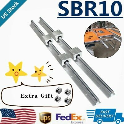 Sbr10 Linear Rail Guide 300mm-1500mm Slide Shaft Rod8x Sbr10uu Bearing Block