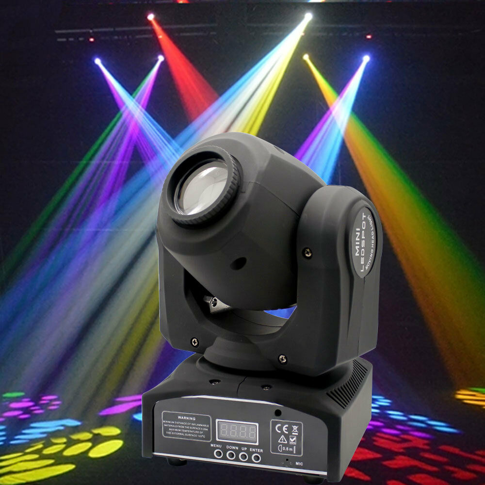 60w rgbw stage light led spot moving head lights dmx disco dj party lighting ebay. Black Bedroom Furniture Sets. Home Design Ideas