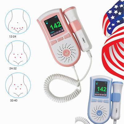 Pinkblue 2mhz Display Pocket Fetal Doppler Prenatal Heart Baby Heart Monitor Us