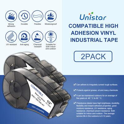 2pk Replace Brady Label Cartridge M21-500-595-wt Vinyl 12 X 21 For Bmp21