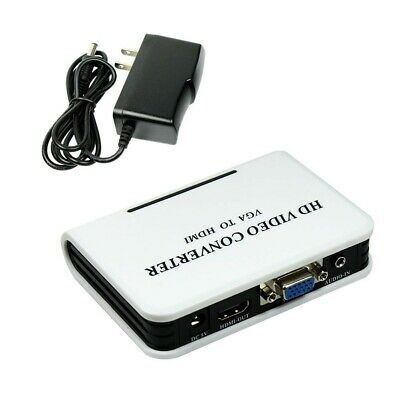 VGA to HDMI Full HD 1080P Video Audio Converter Adapter Box for Laptop PC covid 19 (Vga Hdmi Converter Box coronavirus)