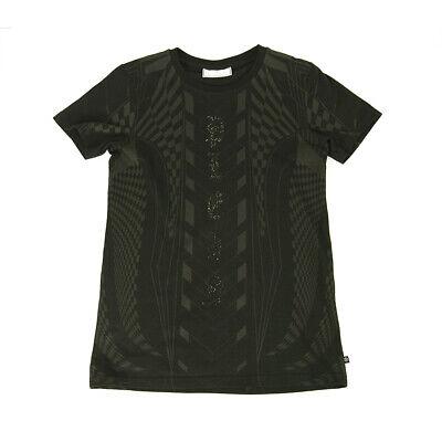 Philipp Plein Junior Black Gray Logo Top Cotton T-Shirt for boys or girls 14 -15