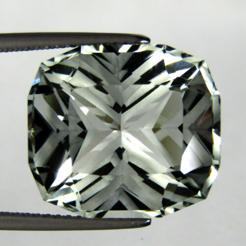 14.42CTS EXQUISITE CUSHION CUSTOM MISSING CUT NATURAL GREEN AMETHYST LOOSE GEMS