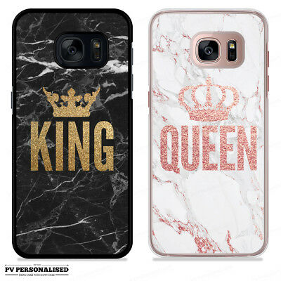 QUEEN KING LOVE CROWN ROSE GOLD MARBLE PHONE CASE FOR SAMSUNG GALAXY S9 S10 S10+