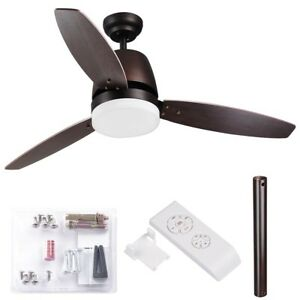 3 blade ceiling fan ebay 52 indoor ceiling fan led light kit 3 blades downrod remote control aloadofball Gallery