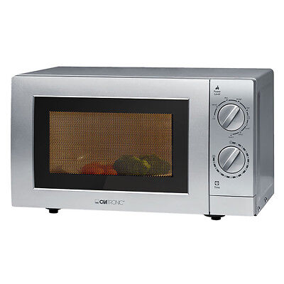 CLATRONIC Mikrowelle mit Grill MWG 786 silberfarben Microwelle Microwave 900W