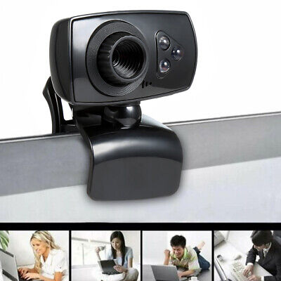 Full HD USB 3 LED Webcam Video Camera with Microphone For PC Laptop w/Clips