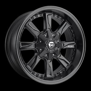 "BRAND NEW Fuel ""Hydro"" D604 20"" Rims Satin Black Ford Chevy GMC $1289/set!"