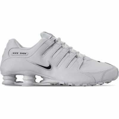New Nike Men's Shox NZ EU Running Shoes (501524-106)  White//Black