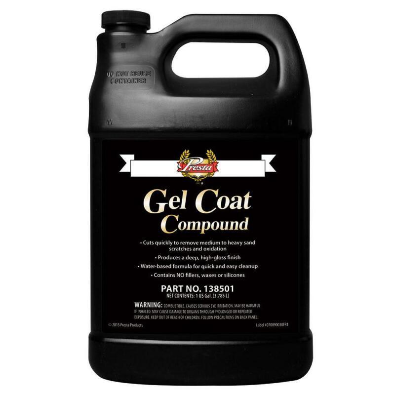 Presta Gel Coat Compound -( 1-Gallon ) VOC Compliant No silicone 138501