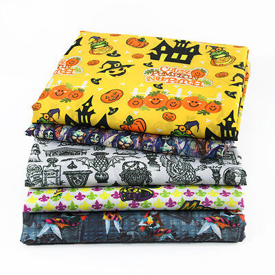 Polyester cotton fabric halloween skull craft supplies 20