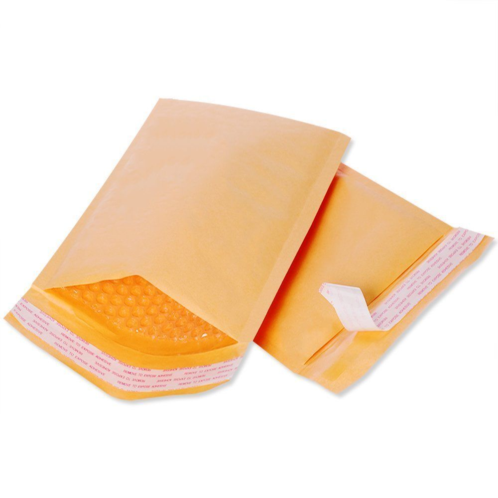750 #000 Bubble Mailers Padded Envelopes Protective Bubble 4 x 8 SELF SEAL NEW Business & Industrial