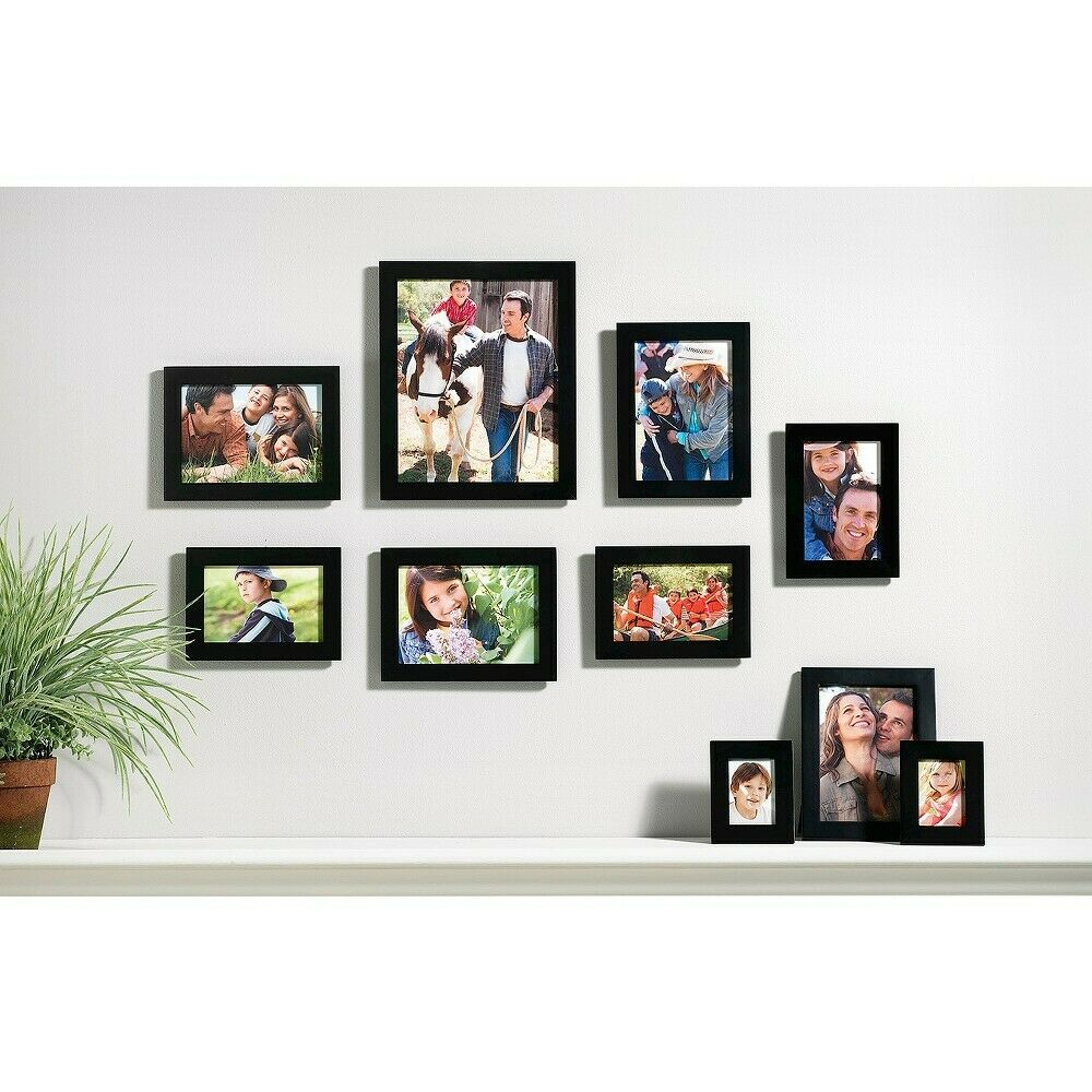 10 Piece Linear Wood Frame Set - Black