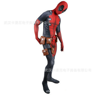 X-men Halloween Costumes For Adults (Deadpool Jumpsuit X-men Cosplay Costume Halloween Lycra Tights For Adult &)