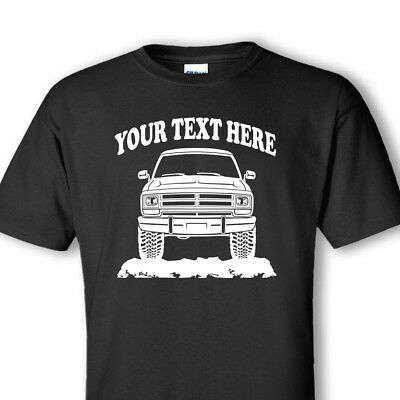 DODGE RAM 150  TRUCK - 1986 - 1989 - 4x4 CUSTOM  PERSONALIZED T-SHIRT - #OR009