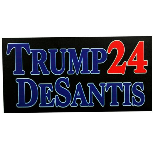 "Trump Desantis 24 Black 4"" x 7"" Car Fridge Magnet Made In USA"