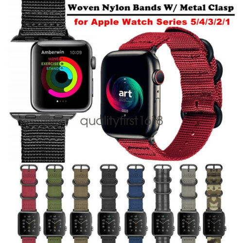 for Apple Watch Band Series 5 4 3 2 44mm 42mm  40mm 38mm Wov