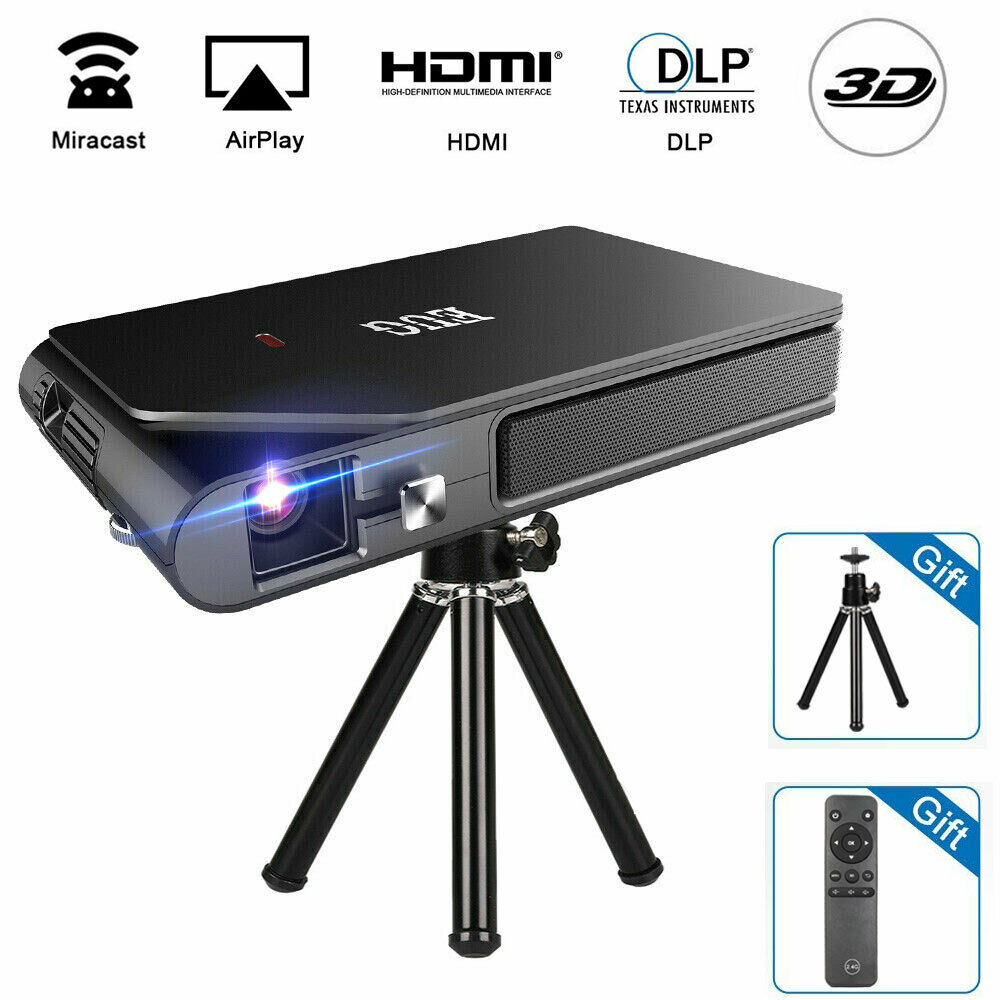 3600lms Mini HD 3D Projektor WiFi DLP Beamer Heimkino Miracast Airplay HDMI USB