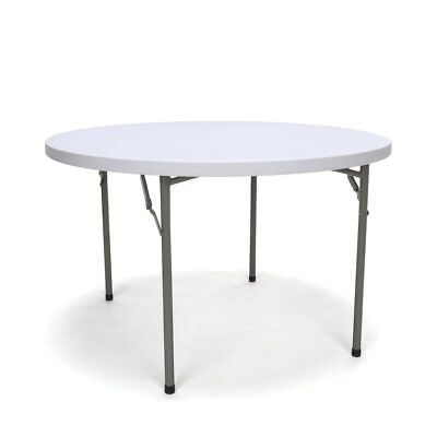 48 Inch Round Folding Utility Table White