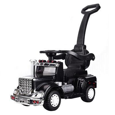Best Ride On Cars 4-in-1 18 Wheeler Baby Push Car Stroller w/ LED Lights, Black