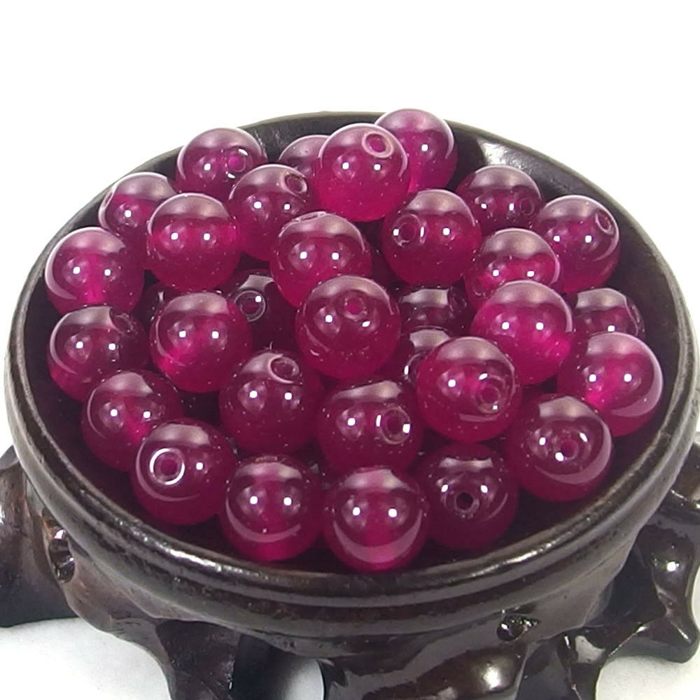 Bulk Gemstones I natural spacer stone beads 4mm 6mm 8mm 10mm 12mm jewelry design fuchsia jade