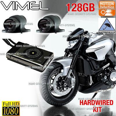 Bike Camera Motorcycle 128GB 1080 Twin Car Waterproof Hardwired Truck Best