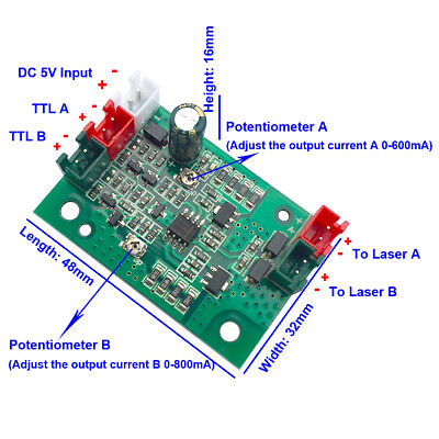 Quality Laser Diode Driver Laser Module Driver For 808nm532nm 660nm With Ttl