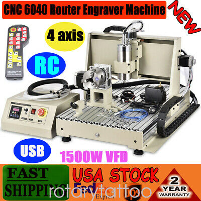 4axis Cnc Router 6040 Usb Engraver Metal Wood Cut Drilling Milling Machine 1.5kw