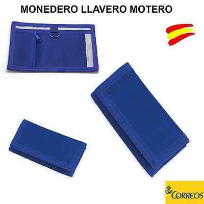 MONEDERO LLAVERO MOTERO - LLAVEROS PARA MOTO EN COLOR AZUL - CARTERA -