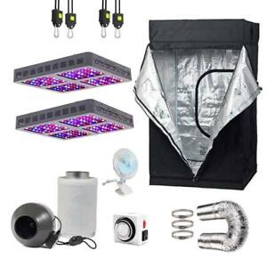 4' x 4' Grow Tent Kit with dual 600W Viparspectra