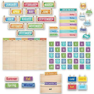 CTP 7061 Upcycle Style Calendar Set Bulletin Board Classroom Decorative NEW