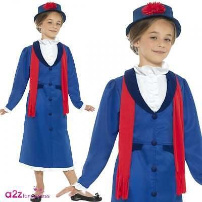 Mädchen Viktorianische Nanny McPhee Mary Poppins Historische Kinder - Mary Poppins Kostüm Kind