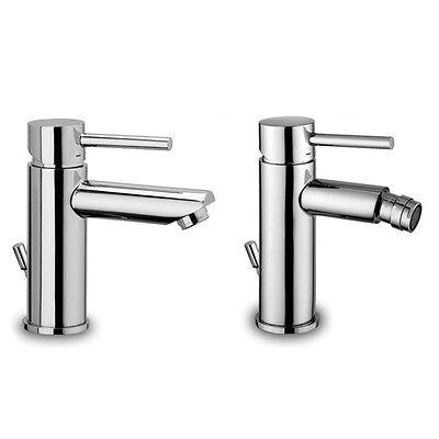 Miscelatori per lavabo e bidet Paffoni design Stick finitura cromo con accessori