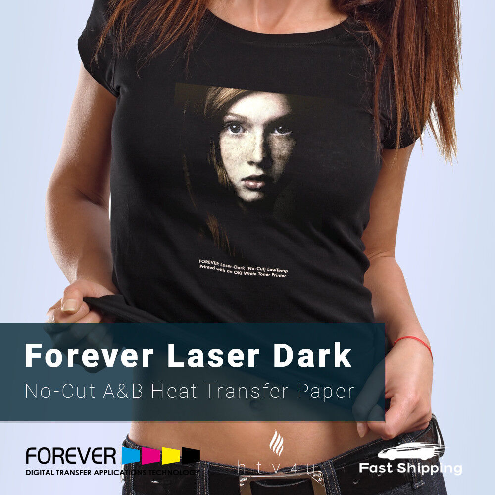 Forever Laser Dark  A & B Heat Transfer Paper **FREE SHIPPIN