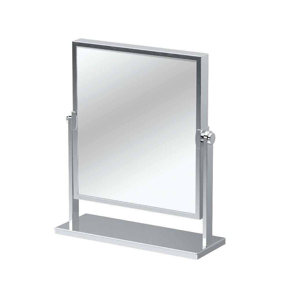 chrome rectangular framed table mirror 1381 12