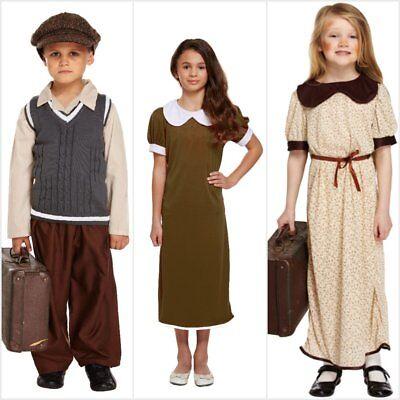 BOYS GIRLS KIDS 1930s 1940s WW2 BOOK DAY WAR FANCY DRESS COSTUME  4 - 12 YEARS