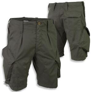 BRITISH-ARMY-STYLE-PCS-ACU-RIPSTOP-OLIVE-GREEN-SHORTS-COMBAT-ISSUE-CAMO-AIRSOFT