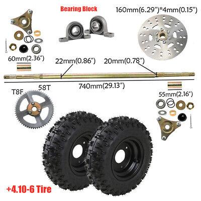 "4.10//3.50 Tire Go Kart 3//4/"" axle 6/"" Split Rim /& Sprocket #35 60T for Mini Bike"