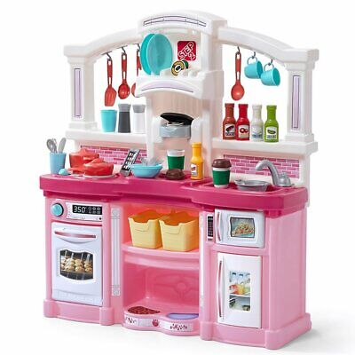Step 2 Kids Play Kitchen set Large Plastic Fun With Friends Toy Kitchen Playset